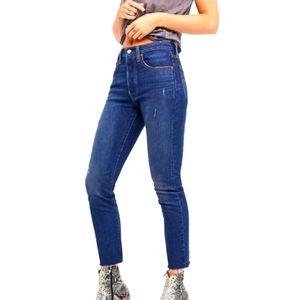 Levi's 501 S Skinny Distressed Jeans